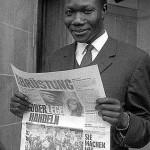 """Student aus Uganda"" (Originaltitel). © Fotoarchiv Ruhr Museum: Anton Tripp (Fotograf), Ostermarsch Ruhr, Dortmund, April 1965"