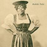"""Arabella Fields, genannt """"die schwarze Nachtigall"""", gastierte im Januar 1909 im Olympia-Theater in Dortmund. Postkarte Sammlung K.M. Kreis."""
