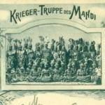 """""""Die Krieger des Mahdi"""" (oder """"Sudanesen-Karawane) gastierten vom 19.8. bis ca. 29.8.1898 im Schützenhof, Hobertsburg, Dortmund. Postkarte Sammlung K.M. Kreis."""