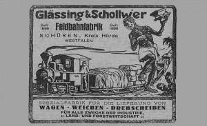 Anzeige der Fa. Glässing & Schollwer aus Dortmund-Schüren mit kolonial-rassistischem Motiv. Quelle: Der Kolonialdeutsche, 1928