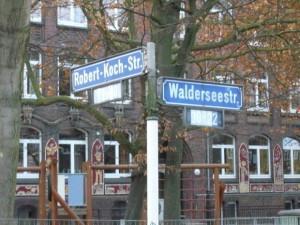 Die Walderseestraße - benannt nach dem Oberbefehlshaber des Krieges in China.