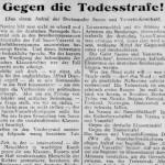 Gegen die Todesstrafe. Dortmunder Sacco- und Vanzetti-Komitee. Der Syndikalist 15.10.1927