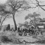 Gottesdienst im Freien. Missionar August Kuhlmann in Hereroland