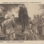 """Dans la Somme – Cuisine roulante et Sénégalais"" (In der Somme - Feldküche und Senegalesen). Carte Postale, ungelaufen. Sammlung Detlev Brum."