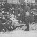 """""""La Guerre 1914 á Toulouse. Nos Troupes noires – Les Senegalais"""" (Unsere schwarzen Truppen – Die Senegalesen). Carte Postale, gelaufen im November 1914. Sammlung Detlev Brum."""