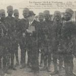 """""""La Guerre 1914 á Toulouse. Nos Troupes noires – Les Senegalais. I a Terreur noire des boches"""" (Schwarzer Terror(?)). Carte Postale, gelaufen im November 1914. Sammlung Detlev Brum."""