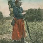 """""""Algerie. Zuave en faction"""". Carte Postale, gelaufen von Algerien nach Dänemark im November 1907. Sammlung Markus Kreis. Die Ansichtskarte erinnert an die globalen Laufwege von Ansichtskarten und wie """"Weltbilder"""" mittels Ansichtskarten verbreitet wurden."""
