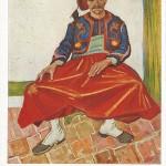 """""""Der Zuave Milliet 1888"""" (Vincent van Gogh). Hanfstaengl-Künstlerpostkarte Nr. 27. Ansichtskarte, ungelaufen. Sammlung Detlev Brum. Vincent van Gogh hat mehrere nordafrikanische Zuaven gemalt, die ihm dafür als Model zur Verfügung standen."""