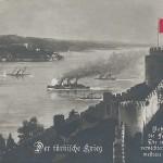 """""""Der türkische Krieg"""". Ansichtskarte, gelaufen im Dezember 1917. Sammlung Detlev Brum."""