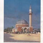 """""""Moschee im Halbmondlager Wünsdorf"""". Abbildung aus """"Die Kriegsgefangenen in Deutschland""""."""