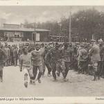 """""""Dreibein-Wettlaufen. Halbmond-Lager in Wünsdorf-Zossen"""". Ansichtskarte, ungelaufen. Sammlung Detlev Brum."""