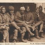 """""""Gefangenenlager 2. Münster i. W. 1916. Nr. 30, Groupe d'Hindous. Gurkasses."""" Ansichtskarte, ungelaufen. Sammlung Detlev Brum."""