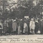 """""""Mohammedaner. Gefangenenlager Zossen-Wünsdorf"""". Ansichtskarte, Wilhelm Puder Kunstanstalt (Berlin), von Wünsdorf gelaufen als Feldpost im September 1915. Sammlung Detlev Brum."""