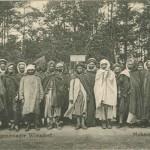 """""""Mohammedaner. Gefangenenlager Zossen-Wünsdorf"""". W.P., Nachdruck verboten. Ansichtskarte, privat gesendet im Mai 1915. Sammlung Markus Kreis."""