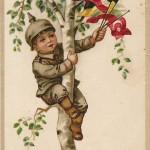 """""""Herzlicher Pfingstgruß!"""" Ansichtskarte, gelaufen im Juni 1916 innerhalb Deutschlands. Sammlung Detlev Brum."""