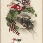 """""""Glück und Segen zur Jahreswende"""". Ansichtskarte, beschriftet, ohne Datum. Sammlung Detlev Brum."""