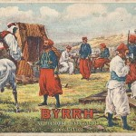 """""""Zouaves au Campement. Byrrh. Vin tonique et Hygiénique Recommande"""". Carte Postale, beschriftet in französischer Sprache im Dezember 1916. Sammlung Detlev Brum."""