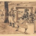 """1870, Les turcos á Wissembourg"". Carte officielle du Comité du monument de Wissembourg. Carte Postale, gelaufen von Wissembourg nach Strasbourg. Sammlung Detlev Brum."