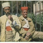 """""""Algerische Gefangene aus der Somme-Schlacht Herbst 1916 in Cambrai"""". Ansichtskarte, gelaufen als Feldpost mit Neujahrsgruß zum Jahreswechsel 1916/1917. Sammlung Markus Kreis."""