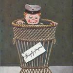 """""""Kriegsgefangen"""". Ansichtskarte, ungelaufen, ohne Datum. Sammlung Detlev Brum. Kriegsgefangenschaft wird zur Banalität und in humoristischen Ansichtskarten dargestellt, mit oder ohne """"Kolonialbezug""""."""