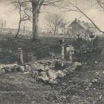 """""""Marokkanergräber bei Missy"""". Ansichtskarte, gelaufen im August 1915 als Feldpost. Sammlung Detlev Brum"""