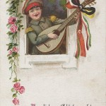 """""""Herzlichen Glückwunsch zum Geburtstage"""". Ansichtskarte, beschriftet mit Glückwünschen zum Geburtstag, ohne Datum. Sammlung Detlev Brum."""