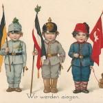 """""""Wir werden siegen."""" Ansichtskarte, ungelaufen. Sammlung Detlev Brum."""