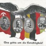 """""""Uns gehts um die Gerechtigkeit"""". Ansichtskarte, gelaufen im April 1916. Sammlung Detlev Brum."""