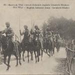 """Guerre de 1914 - Armee Coloniale Anglaise Cavalerie Hindoue"". Carte Postale, gelaufen in Frankreich, ohne Datum. Sammlung Detlev Brum."
