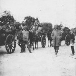 """Guerre 1914 - Convoi de vivres et munitions hindou"" (Hindu Konvoi mit Lebensmitteln und Munition). Carte Postale, beschriftet im September 1914. Sammlung Detlev Brum."