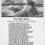 """""""Der letzte Mann"""". Feld-Postkarte nach einem Gemälde von Hans Bohrdt, gelaufen als Marine Schiffspost, Datum unleserlich. Sammlung Detlev Brum. Hans Bohrdt war ein bekannter deutscher Marinemaler. """"Der letzte Mann"""" ist eines der bekanntesten Propagandabilder des Ersten Weltkriegs und wurde u.a. auf verschiedenen Ansichtskarten verwendet. Die Schlachtszene vor den Falklandinseln mit dem Untergang des deutschen Ostasien-Geschwaders wurde insbesondere auch in den kolonial interessierten Kreisen als Heldentat verherrlicht. Die Schlacht bei den Falklandsinseln fand 1914 auf der Rückfahrt von Kiautschou (China) nach der militärischen Eroberung des deutschen Pachtgebietes/ Kolonie statt. In Deutschland gibt es eine Reihe von Städten, in denen in den 1920er Jahren oder nach 1933 Straßenbenennungen nach dem Befehlshaber Graf Maximilian von Spee erfolgten (in Dortmund die Speestr. Im Hafengebiet, initiiert durch die Dortmunder Kolonial- und Marine-Vereine)."""