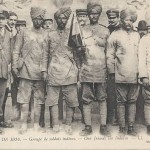 """Guerre de 1914. Groupe de soldats indiens – Our friends the Indians"". Carte Postale, ungelaufen. Sammlung Detlev Brum."