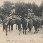 """""""1914… Groupe of muletiers. A group of muleteers"""" (Eine Gruppe von Maultiertreibern). Carte Postale, gelaufen im Januar 1916 in Frankreich. Sammlung Detlev Brum."""