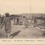 """Guerre 1914 - Au Camp de ""l'Indian Army"" – Marseille"". Carte Postale, ungelaufen. Sammlung Detlev Brum."