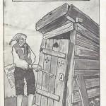 """""""Bester und sicherster Aufbewahrungsort für das Japanische Ultimatum"""". Postkarte, gelaufen als Feldpost am 31.12.1914 mit Neujahrsgrüßen. Sammlung Detlev Brum."""
