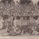 """""""La musique du détachement Anglais Hindou - Colonne de la Conquête du Cameroun"""" (Die Musik der Abteilung der englischen Hindus – Kolonne aus dem eroberten Kamerun). Carte Postale, ungelaufen. Sammlung Detlev Brum."""