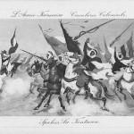 """""""Spahis La Fantasia. L' Armée Francaise Cavalerie Coloniale"""". Carte Postale, ungelaufen. Sammlung Detlev Brum."""