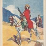 """""""Spahis"""". Carte Postale, Rückseite mit handschriftlicher Notioz von August 1915 . Sammlung Detlev Brum."""
