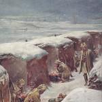 """""""En Guerre – Troupe Indienne dans les Tranchées"""" (Indische Truppen in den Schützengräben). Carte Postale, ungelaufen. Sammlung Detlev Brum."""