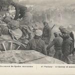 """""""Verberie - Un convoi de Spahis marocains"""". Carte Postale, ungelaufen. Sammlung Detlev Brum. Verberie ist eine französische Gemeinde in der Region Picardie und gehört zum Arrondissement Senlis. In der Region wurden eine Zeit lang nordafrikanische Einheiten eingesetzt, was sich auch auf Ansichtskarten mit einer ganzen Reihe von Motiven mit nordafrikanischen Soldaten auswirkte."""