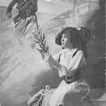 """""""Visions D'Alsace. Serre bien dur, o zouave, tes poings forts et vaillants et defents la cocarde piquée dans nos rubans!"""" Carte Postale, gelaufen im Dezember 1917 innerhalb Frankreichs. Sammlung Detlev Brum."""