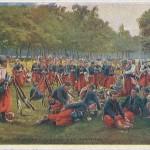 """""""En Guerre: Zouaves a la Grand'Halte"""". Text Rückseite: Souvenir de la Guerre 1914-1915. Ansichtskarte ungelaufen. Sammlung Detlev Brum."""