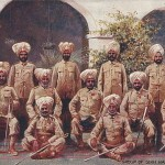 """Group of Sikh Native Officers. The European War 1914. Types of the Indian Army"". Post Card, ungelaufen. Sammlung Detlev Brum."