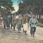 """""""Kriegsgefangene in Deutschland"""". Ansichtskarte (Otto Dubielzig, Munsterlager), ungelaufen. Sammlung Detlev Brum."""