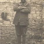 Ansichtskarte ohne weitere Angaben, mit einem schwarzafrikanischen Soldaten, vermutlich Kriegsgefangener. Sammlung Detlev Brum.